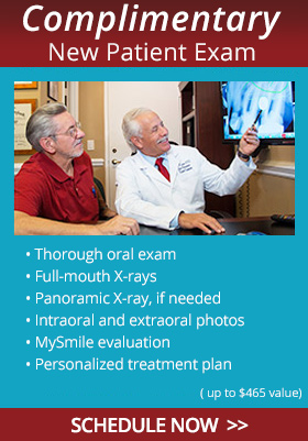 Complimentary New Patient Exam. Thorough oral exam. Full-mouth X-rays. Panoramic X-ray if needed. Treatment plan. Usual value $270 - $465!