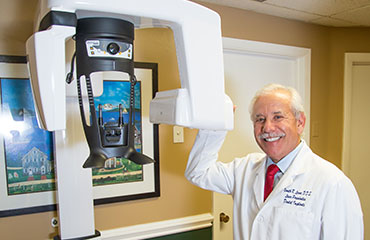 Dr. Levine with 3D CT Scanner